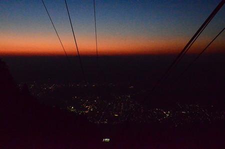 ロープウェイからの夜景