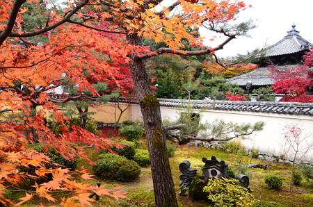 紅葉と舎利殿
