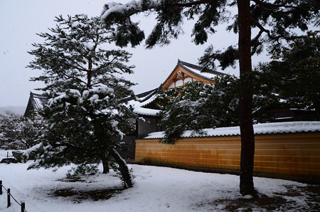 大雪の金閣寺