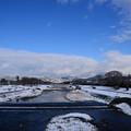 写真: 賀茂川雪景色