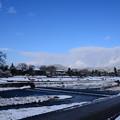 写真: うっすら雪の賀茂川