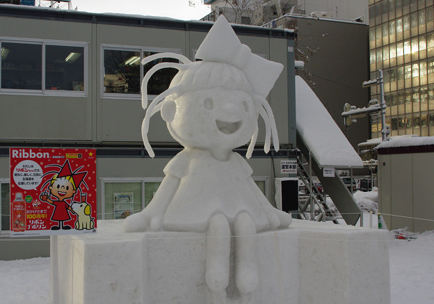 リボンちゃん(雪像)?