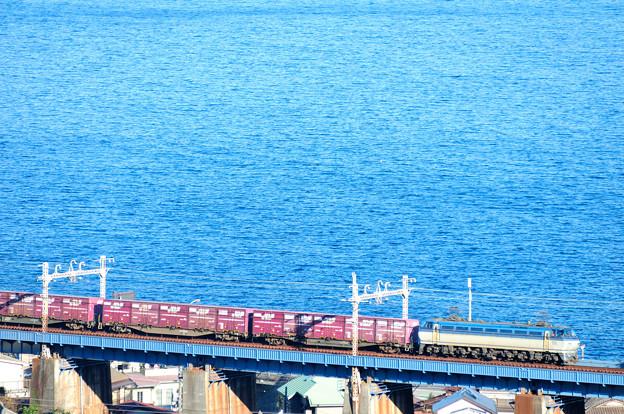 EF66電機が牽引する貨物列車