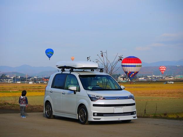 愛車と息子と気球