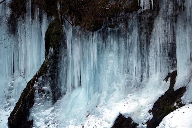 屏風岩の氷爆