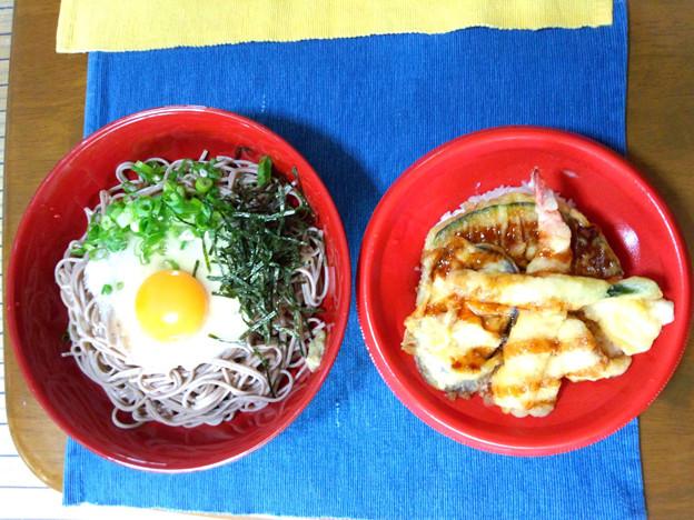 Photos: 冷やし山かけ蕎麦と天丼のセット・・・