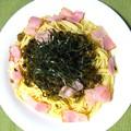 高菜とベーコンのスパゲッティ・・・