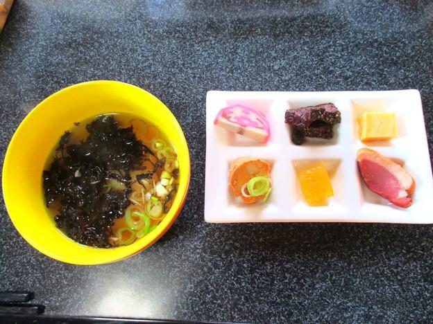 雑煮と珍味