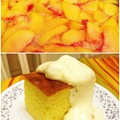 Photos: Peach Lemmon Cake with Peach Vanilla Cream Topping