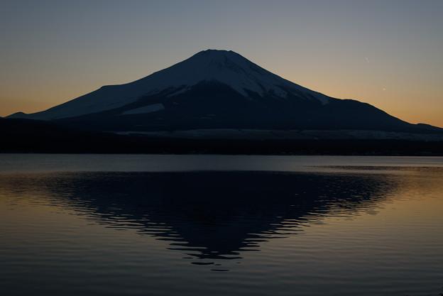 富士の夕暮れ@山中湖20160211