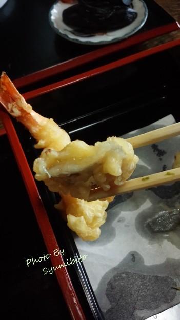 アケビの天ぷら(スマホにて)