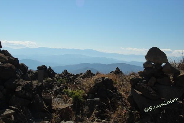 蔵王刈田岳~山形県側を望む