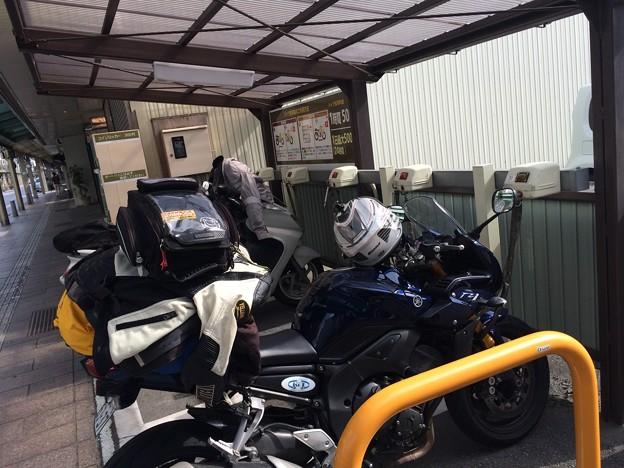 岐阜県 飛騨高山にて バイク用コインパーキング初めて見た!