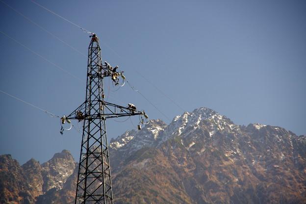鉄塔と剱岳