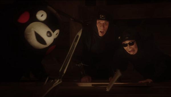 【動画】タモリ&くまモンがBOSS新CM「プレミアム熊本」篇で初共演!屋根裏で槍の穂先にびっくり!