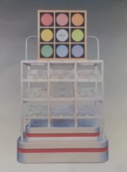 宝くじ【ビンゴ5】抽選機の画像!専用ビンゴ抽せん機(電動遠心力型抽せん機)で8つの数字を抽出。