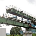 写真: 杣川きょうりょうはしげた設置工事 - 2014.9.5 12.56 - 滝口信之さん(あさひ)