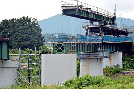 杣川きょうりょうはしげた設置工事 - 2014.9.5 14.16 - 滝口信之さん(あさひ)