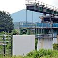 写真: 杣川きょうりょうはしげた設置工事 - 2014.9.5 14.16 - 滝口信之さん(あさひ)
