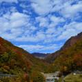 紅葉の五十沢渓谷