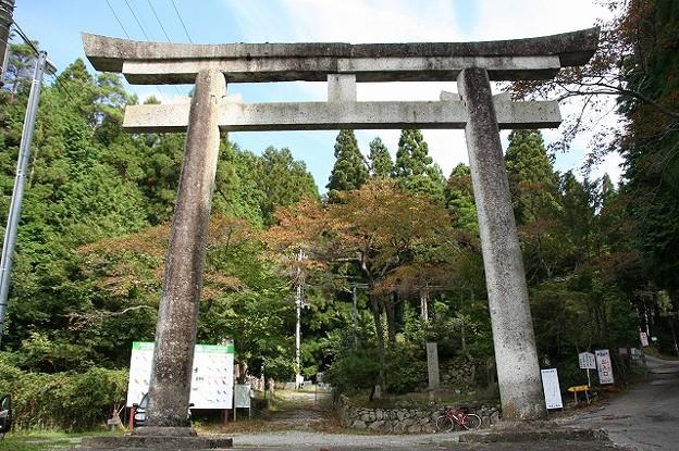 笠形神社の大鳥居?