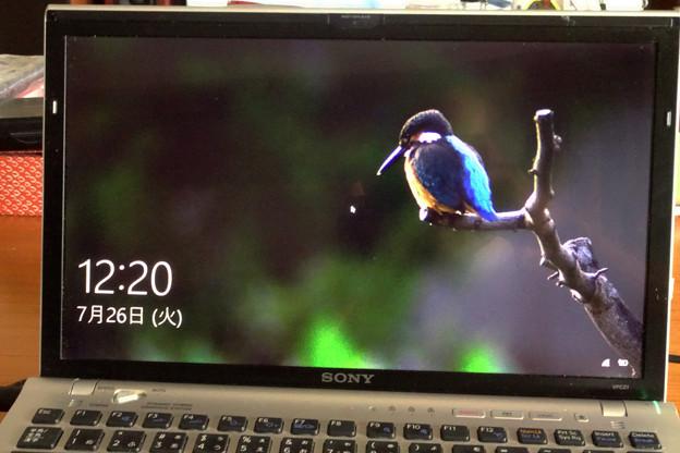 Windows10アップグレード(ロック画面・画像)