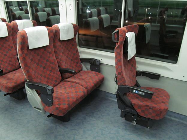 E653系1100番代の車椅子対応座席