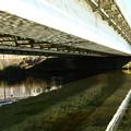 Photos: 河川敷の橋裏