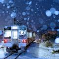 写真: 初雪列車
