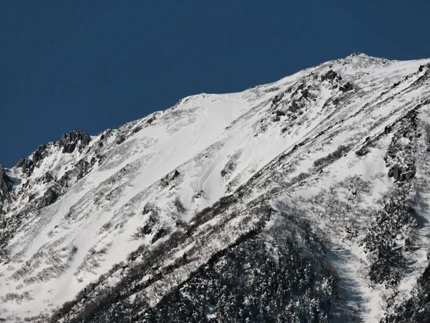 雪崩多発区域。