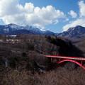 写真: 高原を行く