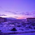 写真: アイスランドの夜明け