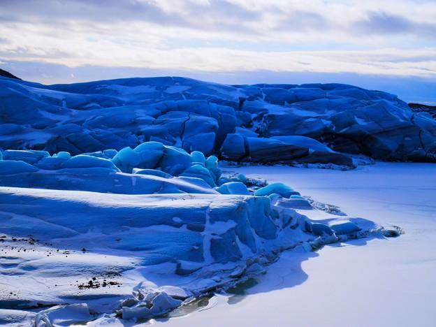 写真: 青い氷河