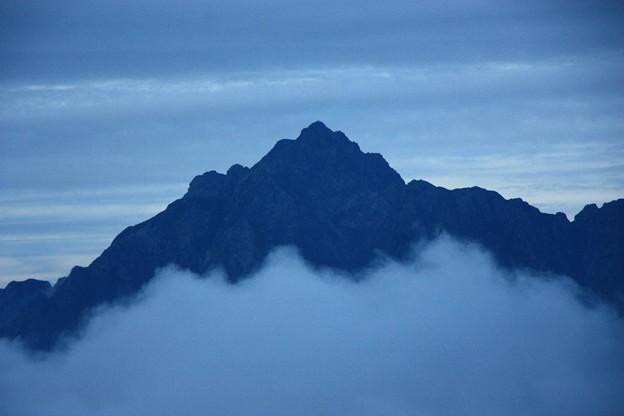 夕刻の剱岳