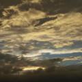 台風接近の夕景ーB