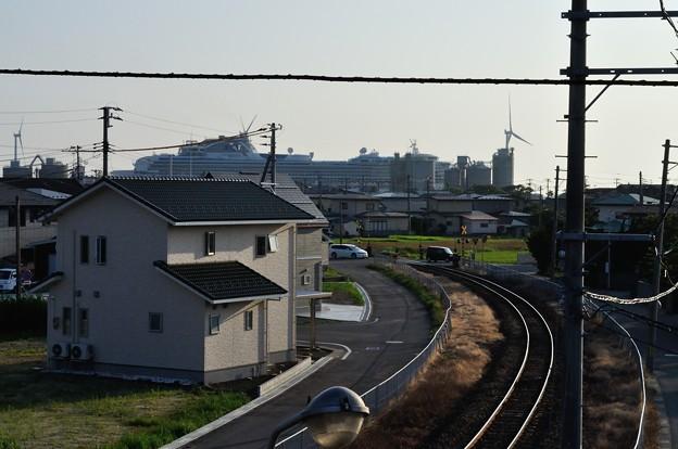 ダイヤモンドプリンセス入港 16-08-06 17-32