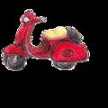 「赤い色鉛筆」で描いた「赤い車」~♪