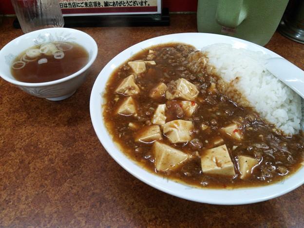 川口 珍来の麻婆丼、多い!(笑)