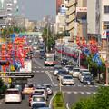 一宮七夕まつり 2014 No - 198:尾張一宮駅ホームから見えた景色