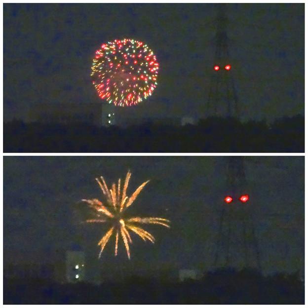 小牧市東部から見えた、「ながくて納涼まつり 2014」の花火 - 16