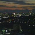 写真: スカイワードあさひ No - 109:展望室からの夜景(名古屋テレビ塔と名駅ビル群)
