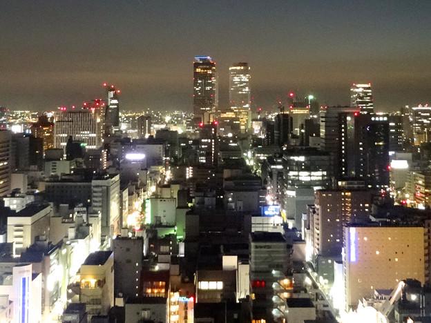 写真: 名古屋テレビ塔からの夜景 No - 50:名駅ビル群