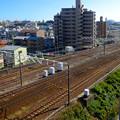 写真: アピタ新守山店 立体駐車場から見える景色 No - 23:JR中央線の線路