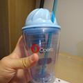 写真: Opera 37リリース記念「広告ブロック機能の速度比較」コンテストの賞品 - 8:フルーツ絞り器付きカップ?