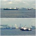 写真: 名古屋港遊覧船から見えた名駅ビル群(2012年9月撮影) - 5