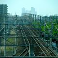 写真: 南大高駅:東海道本線越しに見えた、名駅ビル群 - 4