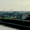 写真: 東海道本線車内から見えた、名港トリトン - 3
