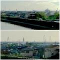 写真: 東海道本線車内から見えた、名港トリトン - 5