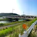 Photos: 銀色に輝く、内津川に架かる上水道橋 - 2(パノラマ)