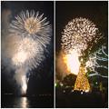 写真: デジカメ(WX300)とiPhone 4Sでの花火写真比較 - 1